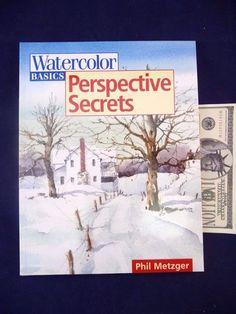 Watercolor Basics Perspective Secrets Phil Metzger Paperback Art Technique Book Crafts:Art Supplies:Instruction Books & Media www.internetauctionservicesllc.com $19.99
