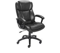 Online EZ Bonded Leather Executive Office Chair, Black
