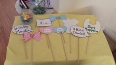 Baby reveal photo booth props