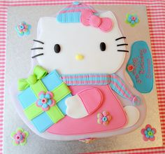 Deborah Hwang Cakes: How to make Hello Kitty cake tutorial Fancy Cakes, Cute Cakes, Awesome Cakes, Sweet Cakes, Candy Melts, Cake Icing, Cupcake Cakes, Eat Cake, 3d Cakes