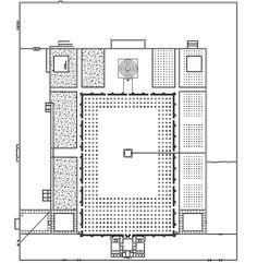 Planta de la Gran Mezquita de Samarra, Irak. Dinastía abasí. s.IX