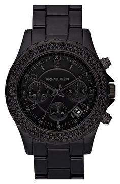 Not much of a watch person, but love the black on black!