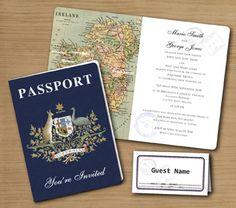 Pack your Passport! Wedding Invitation & Stationery