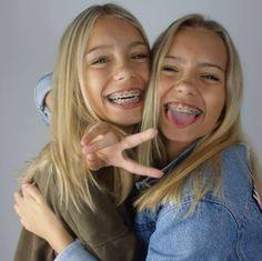 Lisa and Lena Braces Girls, Cute Braces, Lisa Or Lena, Brace Face, Perfect Teeth, Soul Sisters, Double Trouble, Squad Goals, Headgear