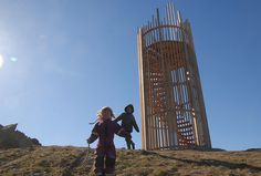 2015 Forest Viewby Ståle Sørensen The sculpture is situated at Valle Hovin footballground in Oslo. The sculpture function as a observation tower. Forest View is made in oakwood. Inside there is a spiral-shaped staircase made in plywood.