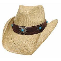 """Raffia Cowgirl hat - """"Montecarlo""""  $29.95"""