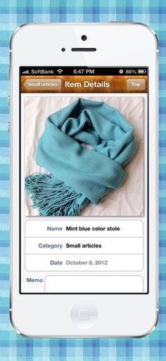 """""""Handy Outfit"""" is a clothing management and coordination application. Quickly record images of your clothing and make fashion fun! #iPhone"""