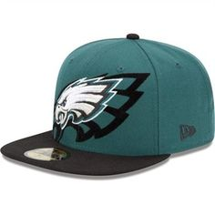 3def0c1b0 Eagles Fans Buy New Era Philadelphia Eagles Over Flock Structured Fitted Hat  and support Eagles Football.