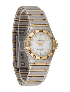 Ladies' stainless steel and 18K yellow gold Omega Constellation watch | The Real Real