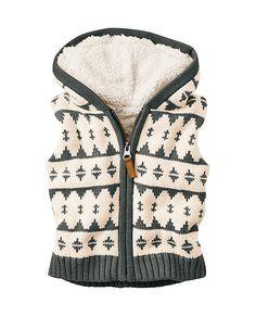Sherpa Lined Sweater Vest from #HannaAndersson.
