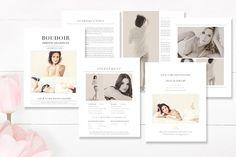 Boudoir Photography Magazine  by By Stephanie Design on @creativemarket