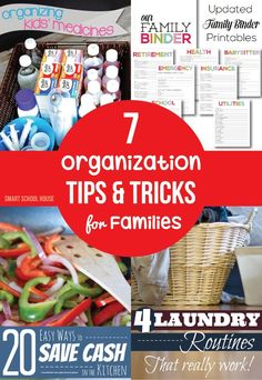 7 Organization Tips and Tricks for Families. Every little hint and tip to make the family function more smoothly is always useful.