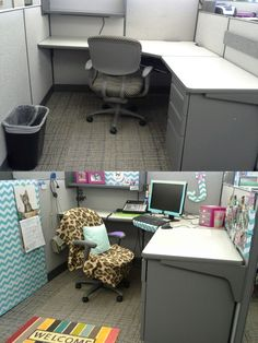 Cubicles are boring!! So much grey, ugh. I'm in my cubicle for 10 hours a day, so I figured I might as well make it adorable.       SO...