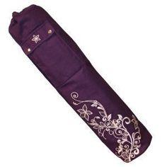 Yoga Mad Womens Wildflower Yoga Mat Bag 63 X 145Cm Grape -- Check out this dc827a65b3b10