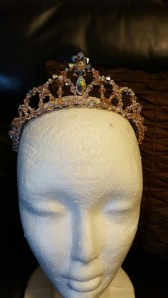 Crystal Tiara for Dance, pink and silver Myprettyballerina by Michelle Fabrega