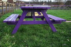 Purple picnic table by Oenothera, via Flickr