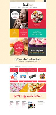 7+ Best Candy, Cupcake & Sweet Store Ecommerce Website Templates (Sweet Store PrestaShop Themes) - Sweetie