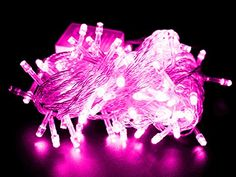 DODO 10M 100 LED String Fairy Light for Wedding Christmas and Party (Pink with Tail Plug)