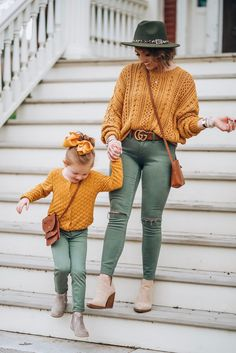 Marigold Paired With Olive Green For Fall - Source by silentserendipi - Olive Green Outfit, Mustard Yellow Outfit, Mustard Yellow Sweater, Yellow Pants, Olive Green Sweater, Fall Family Photo Outfits, Fall Outfits, Casual Outfits, Cute Outfits