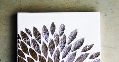 Today I wanted to show you a very simple tutorial on how to make your very own foil art! You will need: Mo. Leaf Wall Art, Foil Art, Diy Crafts, Make It Yourself, 3d, Simple, How To Make, Paint, Make Your Own