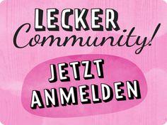 LECKER Community - Jetzt anmelden