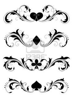 poker, poker suits, cards, poker cards, tattoo design, symbols