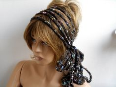 Head Crochet, Handmade, Hair Band, Hair Accessories, Hair Band, Long Hair Band, Hand Band, Bandana, crochet, Gift ideas by MimosaKnitting on Etsy