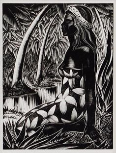 Lynd Ward (American, 1905-1985). Frontispiece to Hot Countries. 1930. (wood engraving)