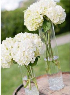 "These beautiful Silk Hydrangeas look very realistic and are perfect for wedding décor or centerpieces. The length of the flower bunch is 14"", the stem is 10"" tall and the flower is 4"" in height and 8"""