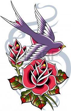 tatouage vintage classique Banque d'images - 10563070