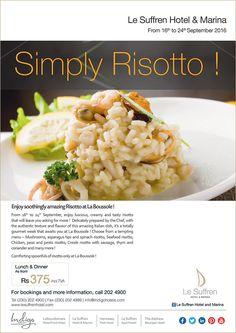 Le Suffren Hotel & Marina - Risotto Food Festival at La Boussole. Tel: 202 4900
