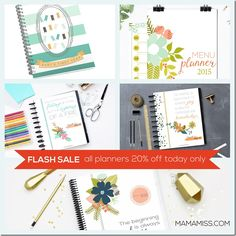 FLASH SALE – all Mama Miss planners! | @mamamissblog #shopsmall