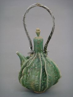 gourd teapot with wire handle