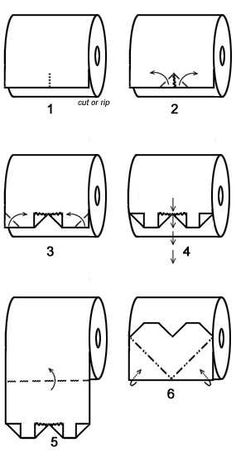 Toilet Paper Origami The Effective Pictures We Offer You About DIY Origami owl A quality picture can Toilet Paper Origami, Toilet Paper Art, Origami Owl, Diy Paper, Paper Crafts, Heart Origami, Paper Oragami, Origami Tattoo, Origami Hearts