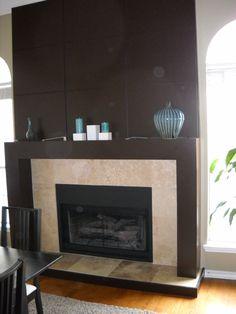 Tile fireplace remodel