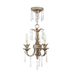 Check out the Livex 8893-65 La Bella Mini 3 Light Mini Chandelier in Vintage Gold Leaf priced at $499.90 at Homeclick.com. $499.90 and 20% off ($399.92)