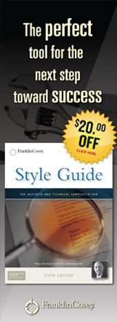 The Style Guide is currently 20.00 off!  It is a great tool to increase your business and technical writing skills.  Give this as a gift for Graduation Seniors!  It will give them a advantage as they enter the work force.
