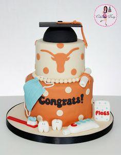 University of Texas Dental Hygienist Graduation cake
