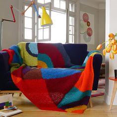 Un plaid en tricot inspiré de Sonia Delaunay
