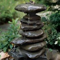Robbie Goddard sharing small garden fountain ideas and awesome related websites, no affiliation. How To Make A Garden Fountain Out Of, Well, Anything You Want Rock Fountain, Diy Fountain, Fountain Design, Fountain Lights, Indoor Fountain, Diy Water Feature, Backyard Water Feature, Water Falls Backyard, Backyard Waterfalls
