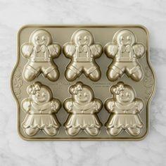 Nordic Ware Gingerbread Kids Cakelet Pan #williamssonoma