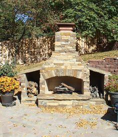 outdoor stone fireplace | ... Fireplaces | Custom Outdoor Fireplaces in Omaha | Baltazar's Stone