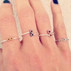 Adjustable sterling with gold-plated or black platinum details Handmade Sterling Silver, Sterling Silver Jewelry, Silver Rings, Open Ring, Plating, Jewelry Design, Fancy, Jewellery, Detail