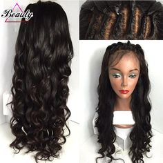 66.98$  Watch now - http://alip7y.worldwells.pw/go.php?t=32730464846 - 7A Brazilian Lace Wigs Virgin Hair Water Wave 130 Density Human Hair Full Lace Wig Glueless Wave Lace Front Wig For Black Woman