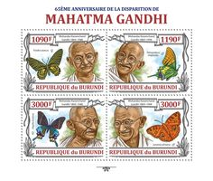 Mahatma Gandhi - Issue of Burundi postage stamps