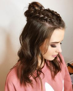 Half Up Half Down Hairstyles For Straight Hair Hair And Beauty