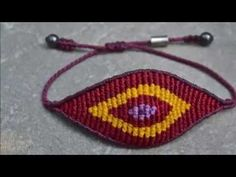 DIY, How to make Evil Eye Macrame Bracelet - YouTube
