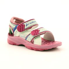 Pink sandals children's shoes for water Rider 80608 shades of pink Swimming Sport, Excessive Sweating, Pink Sandals, Comfortable Heels, Childrens Shoes, Blue Accents, Velcro Straps, Sports Shoes, Two By Two