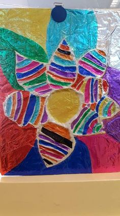 Diy For Kids, Crafts For Kids, Foil Art, Vinyl Art, Art Projects, Fantasy, Abstract, Creative, Painting