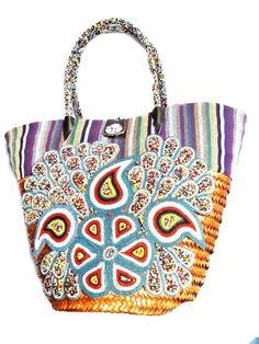Handmade Straw Basket with a beautiful design